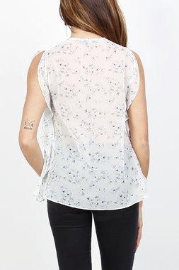 Ryujee TRANS Dámský top bílý se vzorem