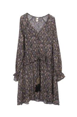 Nekane ZINIA.FN Dámské šaty černé se vzorem